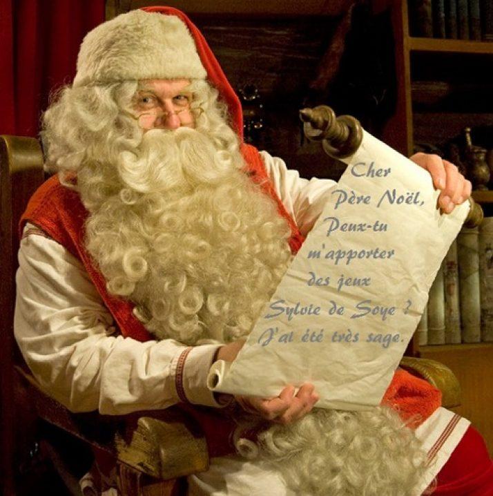 Des jeux Sylvie de Soye dans la hotte du Père Noël