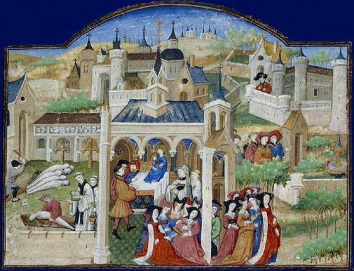La grande peste noire du Moyen Âge